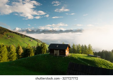 Blondeleine Alm. The hut in the Italian Alps