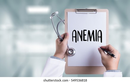 blood for Anemia test , Medical Concept: Anemia  , Diagnosis Iron deficiency  ,  Medicine doctor hand working Professional doctor