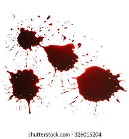 Blood drip isolated in white background