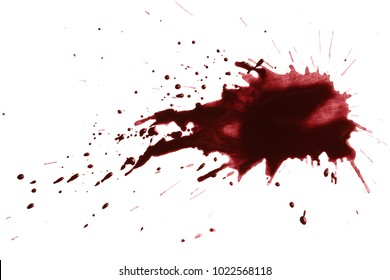 Blood drops, isolated on white background