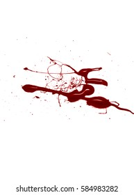 Blood isolated on a white background, can be used in design