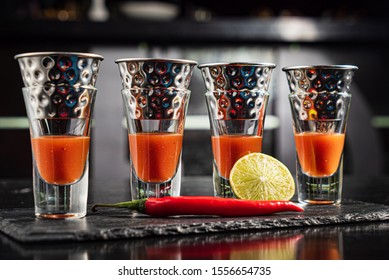 blood mary shots on the black
