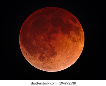Blood Moon - This is a picture of the Moon during the Lunar Eclipse on April 15, 2014.