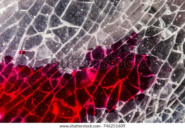 blood on a broken glass