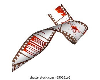 Blood on the frames of old films