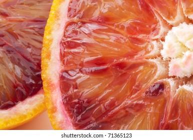blood orange closeup