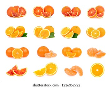 blood orange,tangerine isolated on white background