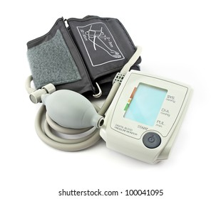 Blood pressure monitor, isolated on white.