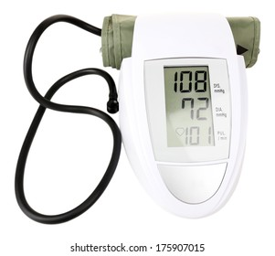 Blood pressure monitor isolated on white