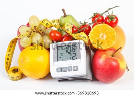 Blood Pressure Monitor Result Measurement Fresh Stock Photo Edit