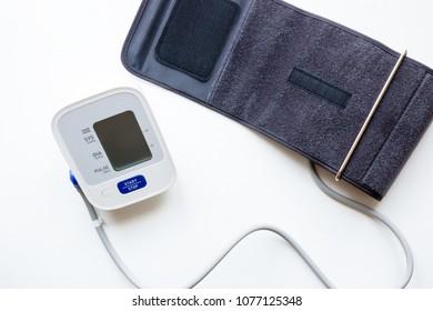 blood pressure tonometer on white background