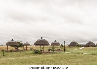 BLOOD RIVER, SOUTH AFRICA - MARCH 22, 2018: The shaded picnic spots at the Ncome Zulu Heritage Museum at Blood River, an historic war site in Kwazulu-Natal