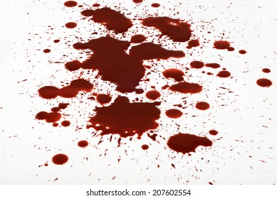 Blood splashes splatter trash background