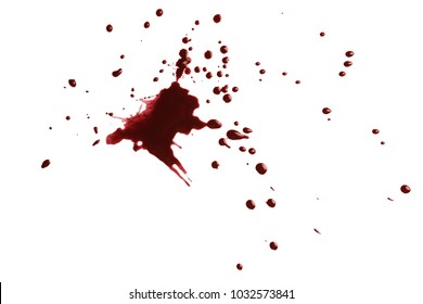 Blood spots, isolated on white background