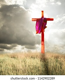 Blood Stained Cross and Garment of Jesus