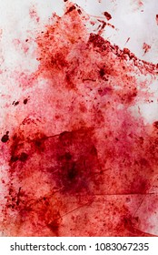 blood stains on a white paper background