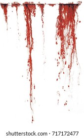Blood stains from a wound or cut