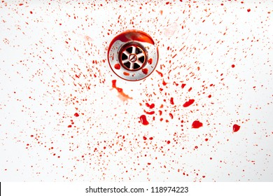 Blood in a washbasin