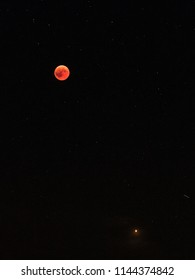 Bloodmoon and Mars in July 2018