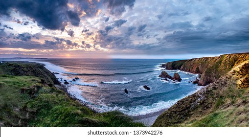 Bloody Foreland coastline in the Gaeltacht area of Donegal. Wild Atlantic Way - Ireland.