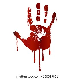 Bloody hand print. Raster version