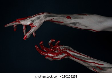 Bloody hands zombie demon