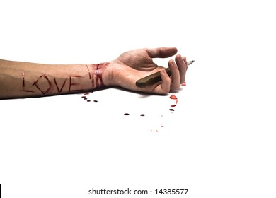 bleeding wrist drawing - 390×280