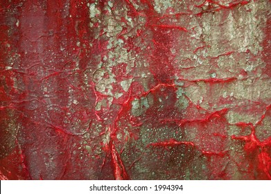 A bloody looking paint/rust texture