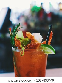 bloody mary at brunch