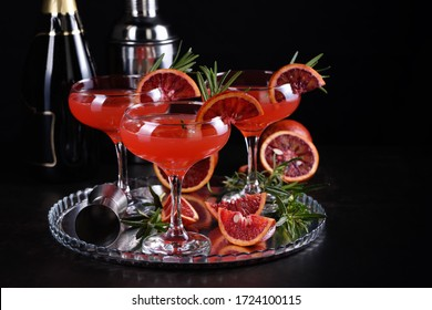 Bloody orange citrus champagne cocktail. Delicious, classy drink that everyone at your   party will love