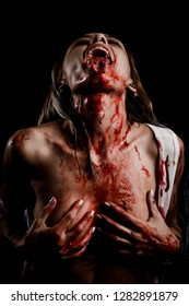 Bloody Woman in Distress