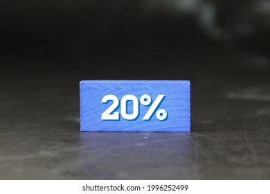 the blook is blue with a number of 20 percent