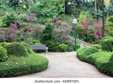 Blooming garden, China, Asia