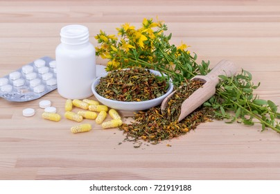 blooming St. Johns wort and medicines