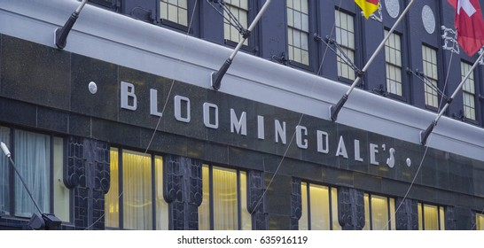 Bloomingdales New York - Huge department store in Manhattan- MANHATTAN / NEW YORK - APRIL 1, 2017