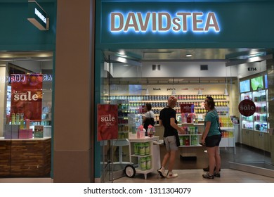 BLOOMINGTON, MINNESOTA - JUL 27: David's Tea store at Mall of America in Bloomington, Minnesota, on July 27, 2017. Its the second largest mall in leaseable space and largest mall in the US.