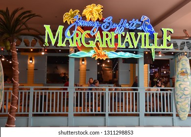 BLOOMINGTON, MINNESOTA - JUL 27: Jimmy Buffett's Margaritaville at Mall of America in Bloomington, Minnesota, on July 27, 2017. Its the second largest mall in leaseable space and largest mall in USA.