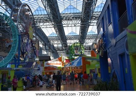 Bloomington Minnesota Jul 27 Nickelodeon Universe Stock Photo Edit