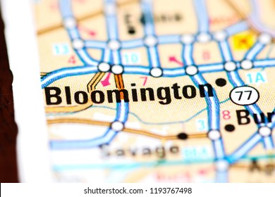 Bloomington. Minnesota. USA on a map