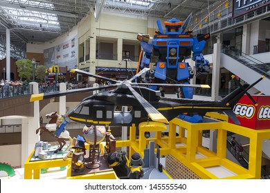 BLOOMINGTON, MN - JULY 06,  - Mall of America on July 06, 2013  in Minnesota. Life size statues made out of legos include a 34 foot tall robot.