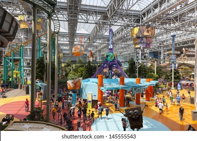 BLOOMINGTON, MN - JULY 06,  - Mall of America on July 06, 2013  in Minnesota. Mall of America is heated mostly by electrical fixtures, lighting, skylights and body heat from 40 million visitors.