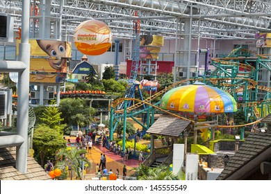 BLOOMINGTON, MN - JULY 06,  - Mall of America on July 06, 2013  in Minnesota. Nickelodeon Universe is the largest indoor amusement park in the united states.