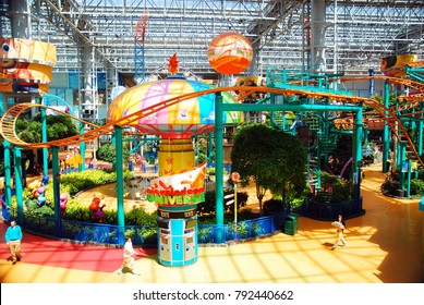 Bloomington, MN, USA May 14, 2013 The Indoor Amusement Park at Mall of America, in Bloomington, Minnesota offers year round fun for the family