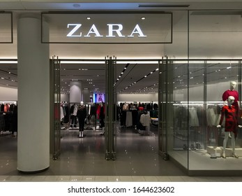Bloomington, MN/USA. February 21, 2018. The exterior of a Zara department store in the Mall of America in Minnesota.