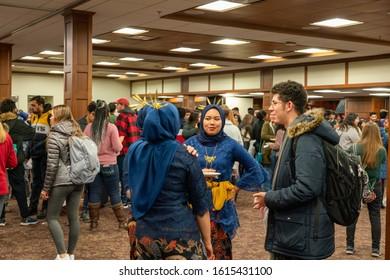 Bloomington, IN / USA - 11 15 2019: IU World's Fare