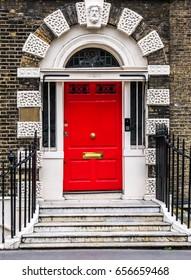 Bloomsbury door in London. England