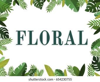 Blossom floral natural flat design