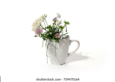 blossoming flowers in cup