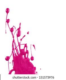 Blots of pink nail polish