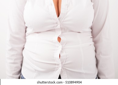 Blouse don't fit on plus sized woman